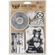 Trust The Magic Finnabair Cling Stamps