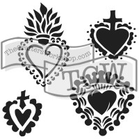 Mini Regal Hearts 15X15 Template
