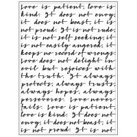 Script Background - Embossing Folder