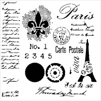 Mini Carte Postale 15X15 Pochoir