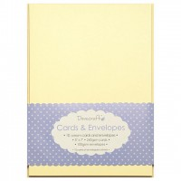 10 Dovecraft Cards and Envelopes Cream