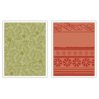 Sizzix Embossing Folders: Branches, Swirls and Ribbons
