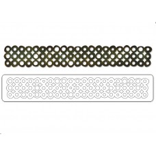 Bordure de Rondelles Sizzlits Decorative Strip Die