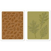 Textured Leaves set - Sizzix Tim Holtz Texture Fades Embossing Folders
