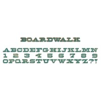 Sizzix Boardwalk Alphabet Die