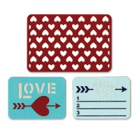 Sizzix thinlits die set: Love