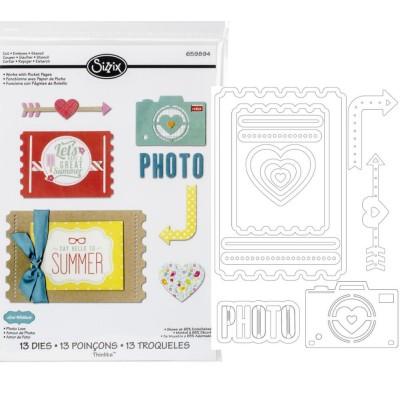 Sizzix thinlits die set: Photo Love