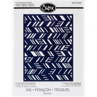 Fancy Chevron Card Front/Layering Shapes Sizzix Die