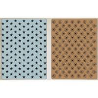 Tiny Stars and Bullseye Sizzix Texture Fades Embossing Folders