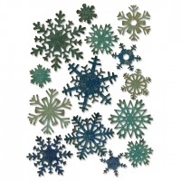 Sizzix thinlits die set: Paper Snowflakes, mini