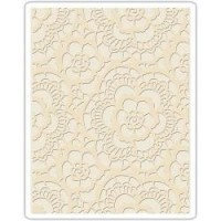 Sizzix Texture Fades Embossing Folder Lace By Tim Holtz