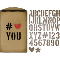 Gift Card Bag and alphabet -  Sizzix Thinlits Dies by Tim Holtz