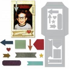 Pocket Frame -  Sizzix Thinlits Dies by Tim Holtz