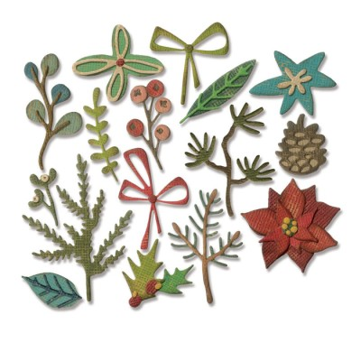 Funky Festive Sizzix Thinlits Dies By Tim Holtz