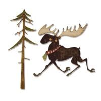Merry Moose Sizzix Thinlits Dies By Tim Holtz