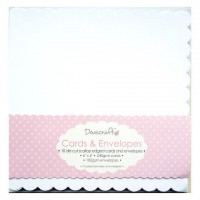 10 Dovecraft Scallop Edge Cards and Envelopes