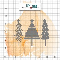 DIY & cie die - Trio of Christmas Trees