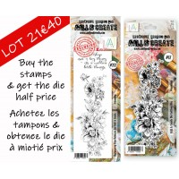 AALL & Create DUO stamp set 232 with matching die 17 half price !