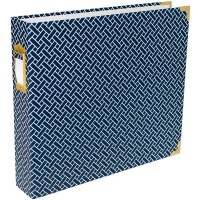 "Project Life Album - Navy Weave for storing 12"" x 12"" pages"