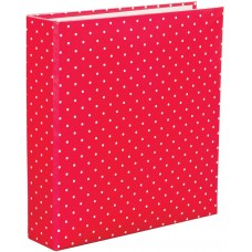 """Project Life D-Ring Planner Album 6"""" x 8"""" Red Polka Dot"""