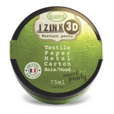 Aladine Izink 3D Pearly Texture Paste : Cactus