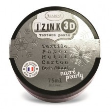 Aladine Izink 3D Pearly Texture Paste : Silver
