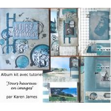 Kit scrapbooking mini-album 'Jours heureux en images'