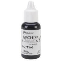 Re-inker Archival Ink - Potting soil