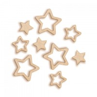 Artistic Flair Woodies - Étoiles arrondies