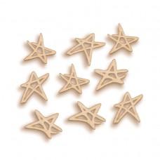 Artistic Flair Woodies - Étoiles griffonnantes