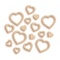 Artistic Flair Woodies - Hearts