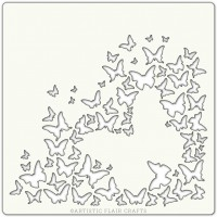 Artistic Flair Pochoir 152 x 152 mm - Butterfly Burst