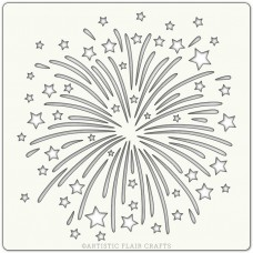 Artistic Flair Stencil 152 x 152 mm - Firework