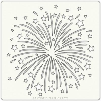 Artistic Flair Pochoir 152 x 152 mm - Firework
