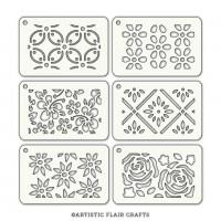 Artistic Flair Stencil Tabs - Floral