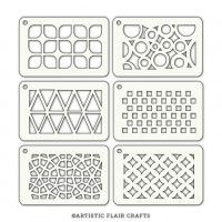 Artistic Flair Stencil Tabs - Geometric