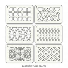 Artistic Flair Pochoir Tabs - Geometric