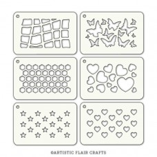 Artistic Flair Stencil Tabs - Starry Hearts