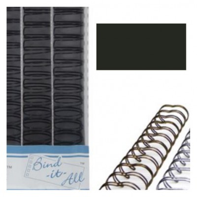 """Bind-it-all wires Black 1.25"""" (32mm)"""