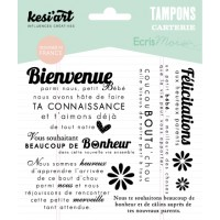 Bienvenue Bébé - Welcome baby - Clear Stamps by Kesi'art