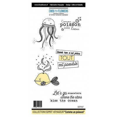 Stamps by Chou & Flowers - Comme un poisson