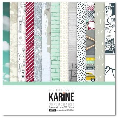 Correspondances collection de papiers: Ateliers de Karine