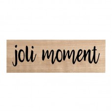 Chou & Flowers Wood Mounted Stamp - Joli moment