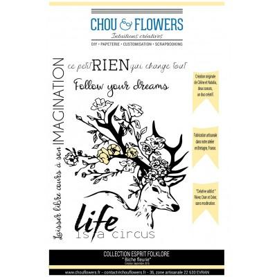 Stamp set 'biche fleurie' by Chou & Flowers