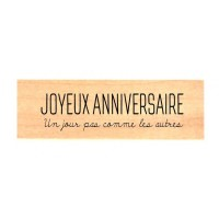 Chou & Flowers Wood Mounted Stamp - Anniversaire