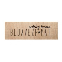 Chou & Flowers Wood Mounted Stamp - Bloavezh Mat