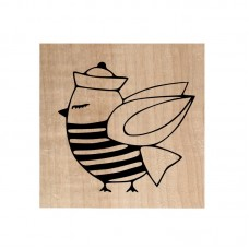 Chou & Flowers Wood Mounted Stamp - Mr oiseau le marin