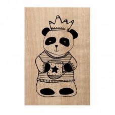 Chou & Flowers Tampon bois - Mr Panda
