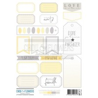 Two sheets of embellishments by Chou & Flowers - PETIT COTE FAMILLE