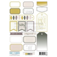 Two sheets of embellishments by Chou & Flowers - PETIT COTE JARDIN